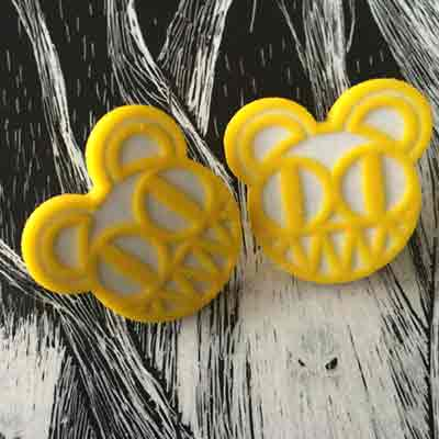 Yellow Radiohead Earrings - Joy Complex